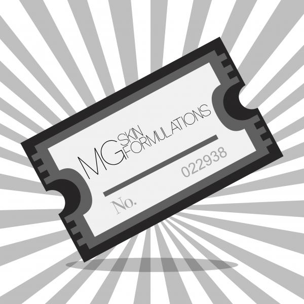 MG Skin Formulations Raffle Ticket